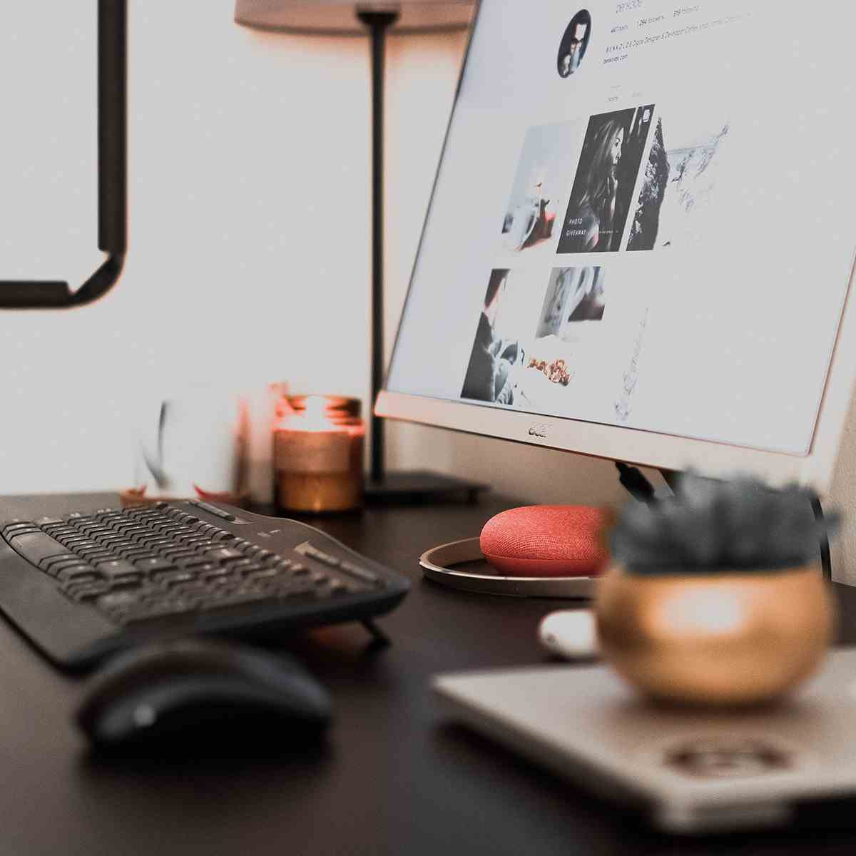 Desktop e redes sociais