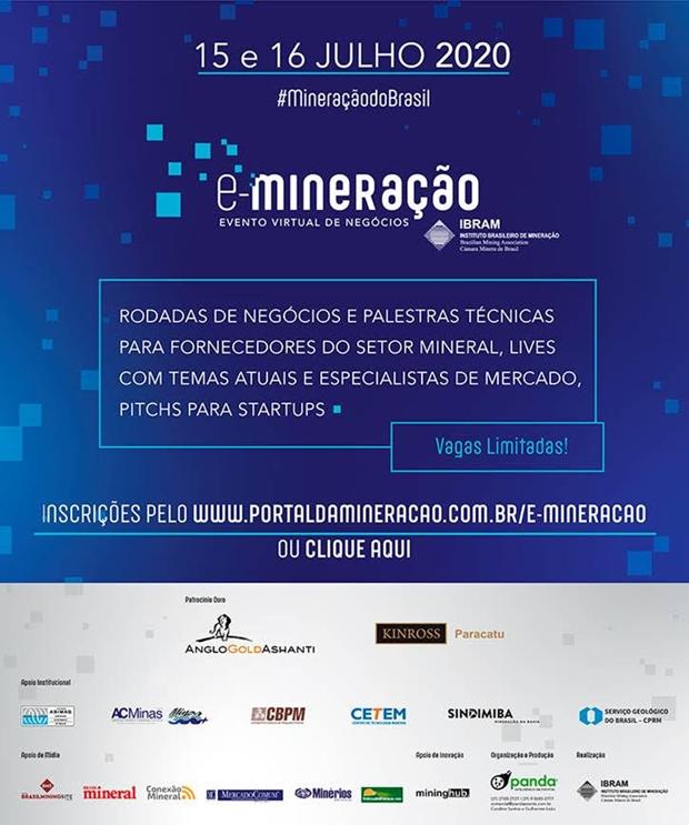 E-mineração: evento virtual vai promover negócios entre mineradoras e fornecedores de produtos e serviços em todos os setores